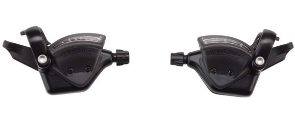 Microshift TS51 Thumb-Tap Shifter Set Color: Black