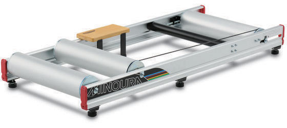 Minoura Live Roll R800 with Foot Step Bicycle Roller Color: Brushed Silver