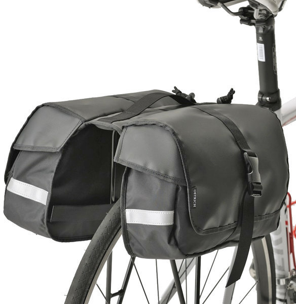 Minoura RC-1000 One Day Pannier Bag and Slim Bicycle Rack Combo
