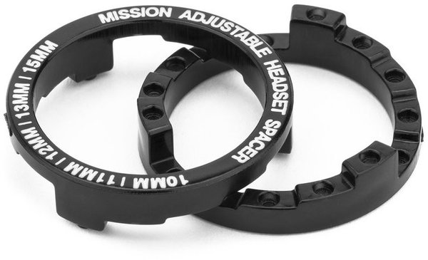Mission BMX Headset Spacer Color: Trans Black