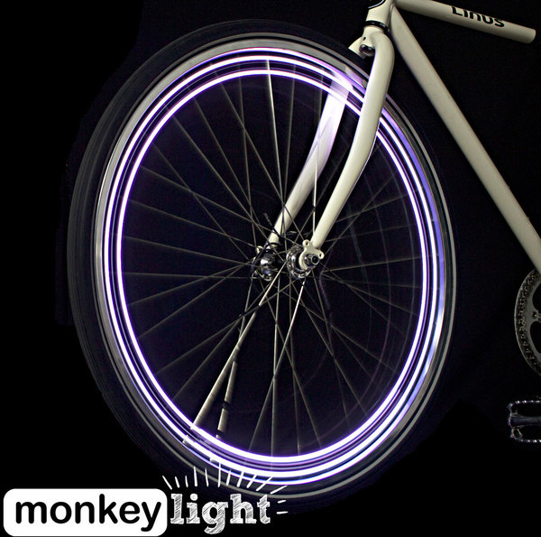 Monkeylectric M204 4-LED Bicycle Wheel Light Rechargeable