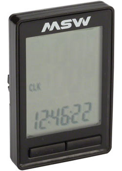 MSW CC-200 Miniac Wireless Cycling Computer Color: Black