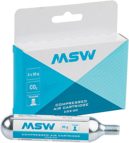 MSW CO2 Cartridge: 20g (3-Pack)