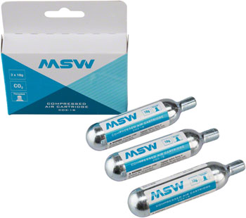 MSW CO2 Cartridges Size: 18g