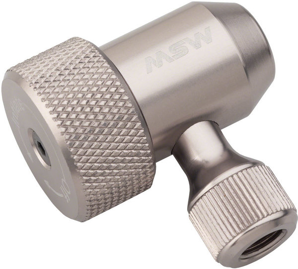 MSW Jetstream Adjustable Inflation Head: Presta and Schraeder Color: Silver