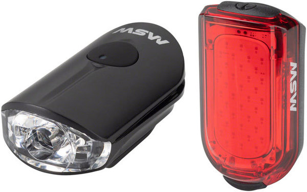 MSW Pico Headlight and Taillight Set Color: Black|Red