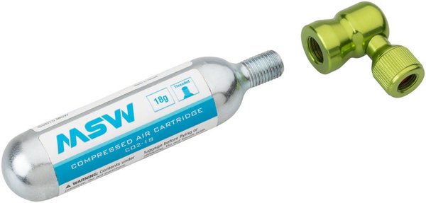 MSW Windstream Twist Inflator Kit Color | Model: Green | 1 20g CO2 cartridge