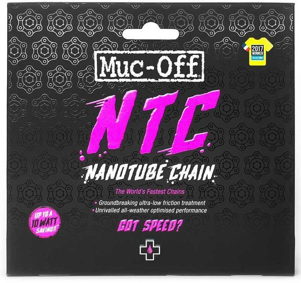 Muc-Off NTC Nanotube Chain Color | Length | Model | Speeds: Silver | 116 links | Shimano Dura-Ace | 11-speed