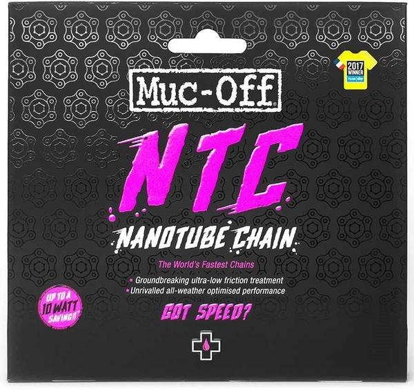 Muc-Off NTC Nanotube Chain Color | Length | Model | Speeds: Silver | 114 Links | SRAM Red | 11