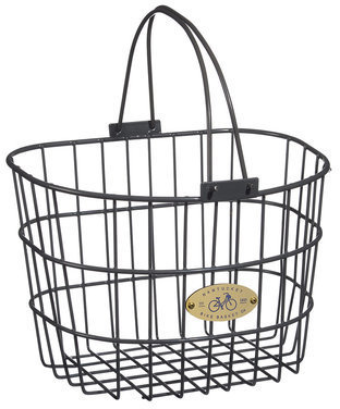 Nantucket Bike Basket Co. Surfside Adult Wire D-Shape Basket Color: Charcoal Gray