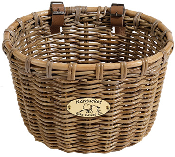 Nantucket Bike Basket Co. Tuckernuck Handlebar Basket Model: Oval