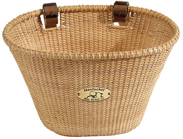 Nantucket Bike Basket Co. Lightship Adult Oval Basket Color: Natural