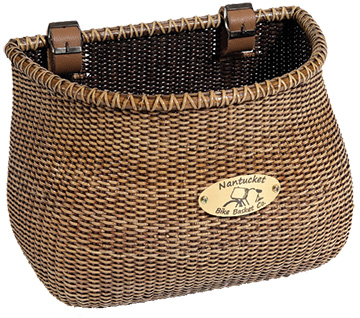 Nantucket Bike Basket Co. Lightship Adult Classic Basket Color: Brown