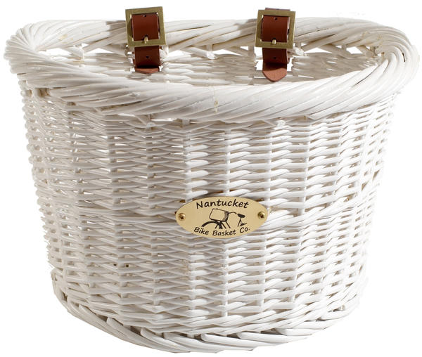Nantucket Bike Basket Co. Cruiser Adult D-Shape Basket Color: White