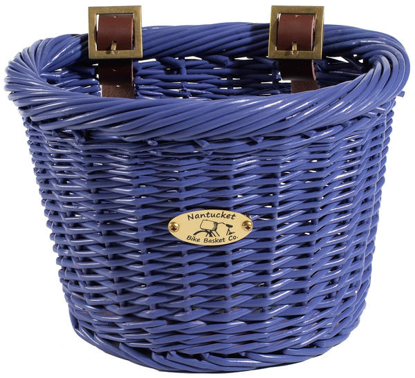 Nantucket Bike Basket Co. Gull & Buoy Child D-Shape Basket Color: Purple