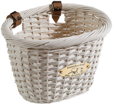 Nantucket Bike Basket Co. Cliff Road Adult Oval Basket Color: White