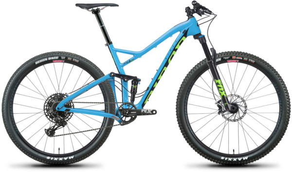 Niner RKT 9 RDO 2-Star NX Eagle Color: Blue/Green