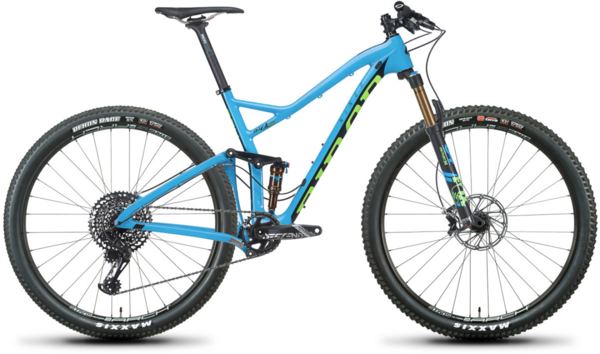 Niner RKT 9 RDO 3-Star GX Eagle Color: Blue/Green