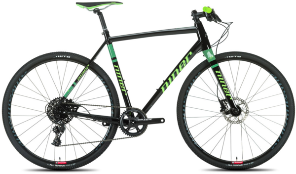 Niner RLT 9 1-Star Flat Bar Apex Color: Black/Green