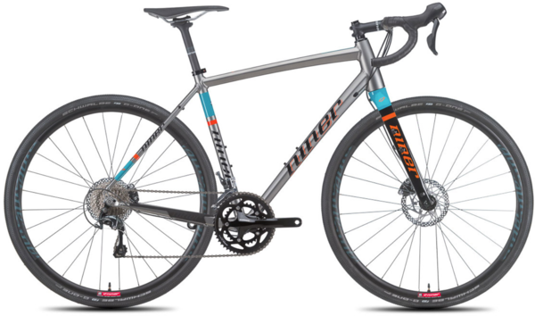 Niner RLT 9 2-Star Tiagra Color: Forge/Teal/Orange