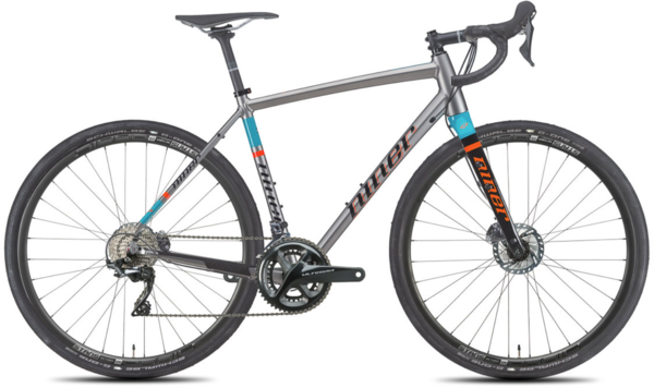 Niner RLT 9 4-Star Ultegra Color: Forge/Teal/Orange