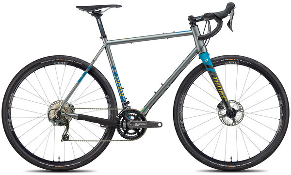 Niner RLT 9 Steel 5-Star 2x Color: Forge Grey/Baja Blue