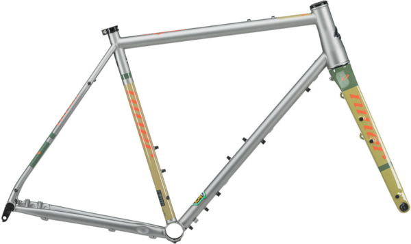 Niner RLT 9 Steel Frameset Color: Orange-A-Tan