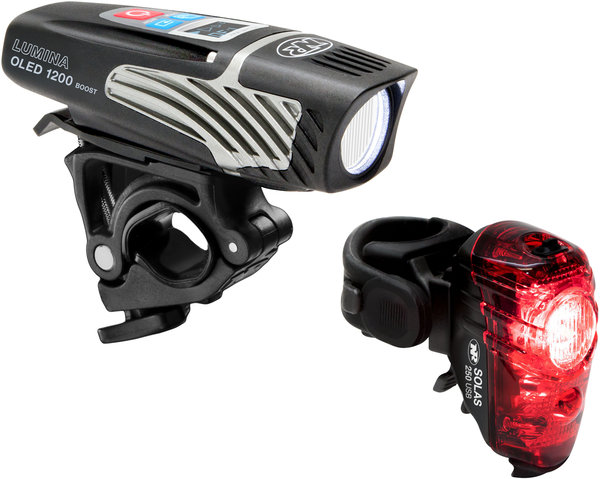 NiteRider Lumina OLED 1200 Boost/Solas 250 Combo Color: Black