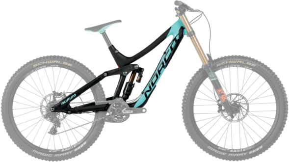Norco Aurum C7.1 Frame Color: Teal/Black/Orange