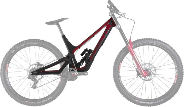 Norco Aurum HSP Framekit Color: Black/Red
