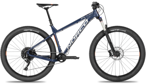 Norco Fluid 1 HT Color: Blue/Grey/Orange