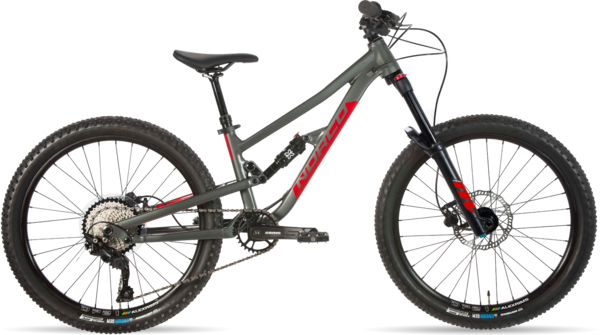 Norco Fluid FS 2 24 Color: Charcoal Grey/Candy Apple Red