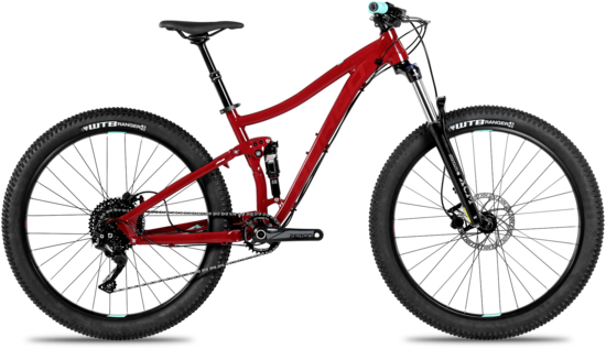 Norco Fluid FS2 + Women's Color: Red/Red/Teal