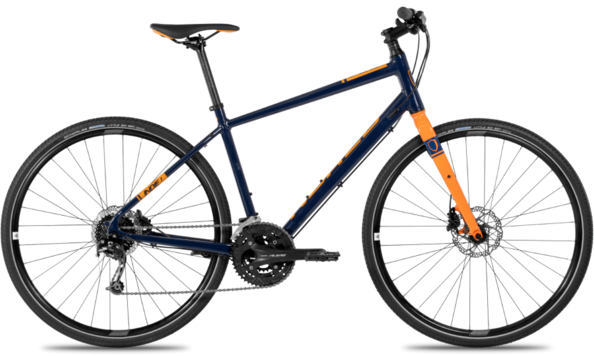 Norco Indie 1 Color: Dark Blue/Orange