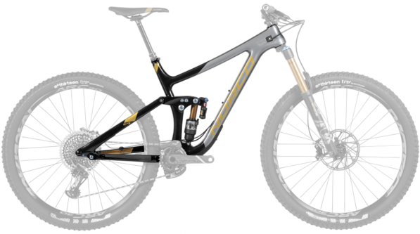 Norco Range C Framekit Color: Black/Charcoal/Gold