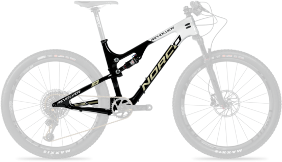 Norco Revolver 7XX1 FS Framekit Color: Black/White/Gold