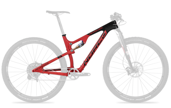 Norco Revolver 9 Framekit Color: Red/Black