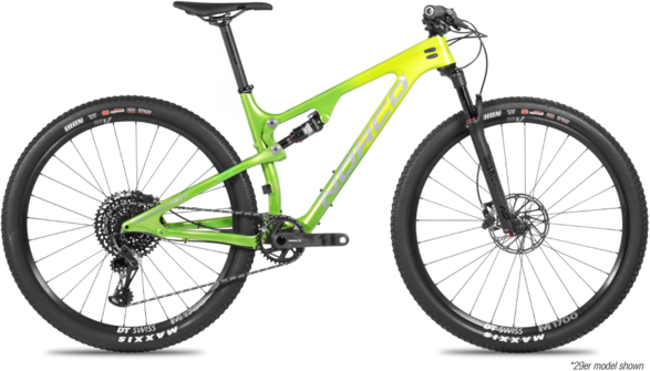 Norco Revolver FS 1 Color: Green Fade/Black