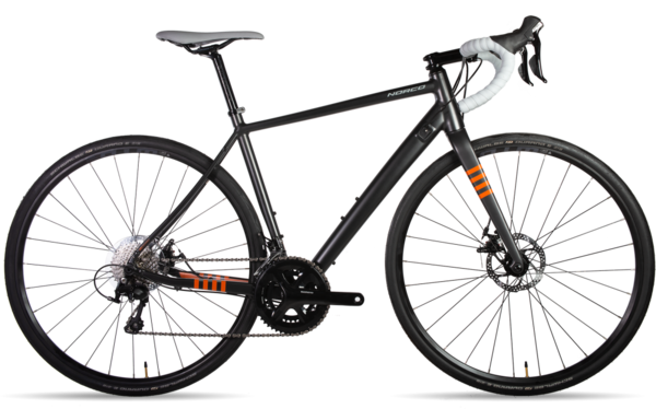 Norco Section Aluminum 105 Mech Color: Charcoal/Orange