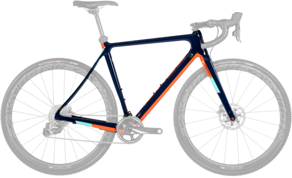 Norco Threshold C Frame/Fork Color: Navy Blue/Orange