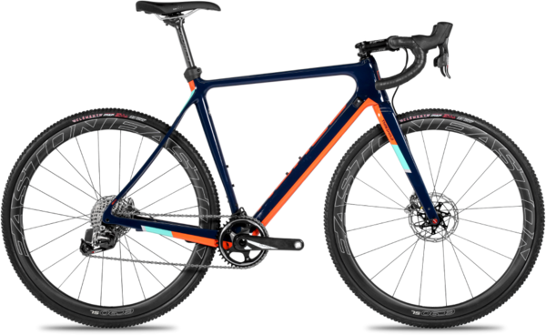 Norco Threshold C Red eTap Color: Navy Blue/Orange