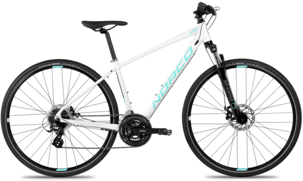 Norco RENTAL - XFR 4 Forma Color: White/Light Blue