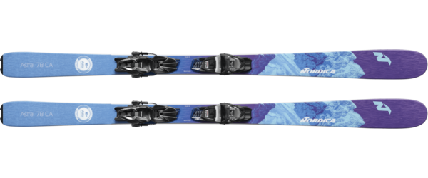 Nordica Astral 78 CA FDT + TP2 Compact 10 FDT Color: Purple/Blue