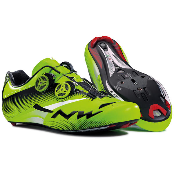 Northwave Extreme Tech Plus Shoes Color: Green Fluo