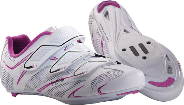 Northwave Starlight 3S Shoes - Women's Color: White/Purple/Silver