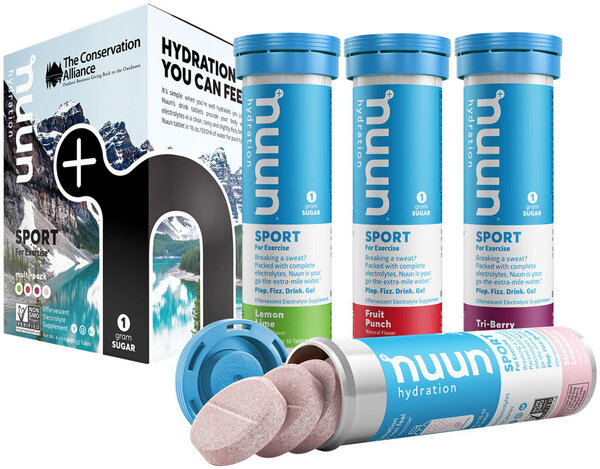 nuun Nuun Sport Mixed 4-Pack Flavor | Size: The Conservation Alliance | 10-tablet 4-pack