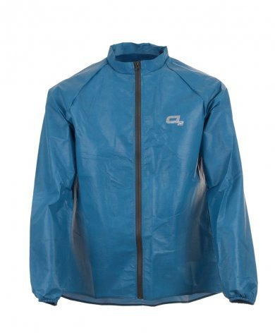 O2 Rainwear Element Cycling Jacket Color: Steel Blue
