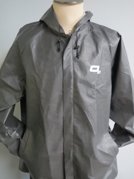 O2 Rainwear Element Hooded Jacket Color: Graphite Grey