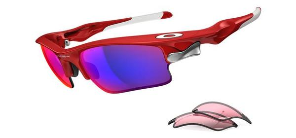 Oakley Fast Jacket XL Color | Lens: Infrared | Positive Red Iridium|VR28