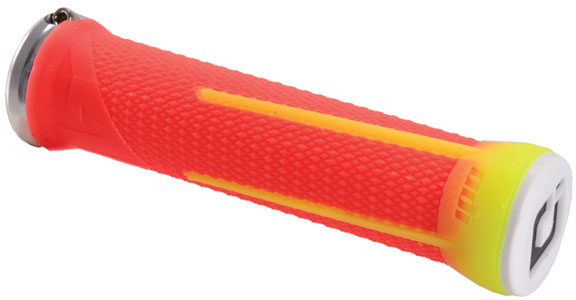 ODI Aaron Gwin Lock-On MTB Grip Color | Length: Red/Fire Red | 135mm